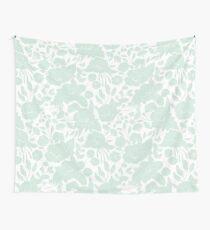 Vintage elegant pastel green white stylish floral Wall Tapestry