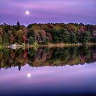 Moon Rise Over Parker Dam State Park by Kathy Weaver