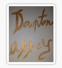 Downton Abbey Gold Sticker