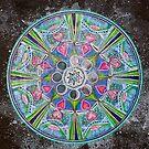 Mandala : Full Moon Eclipse by danita clark