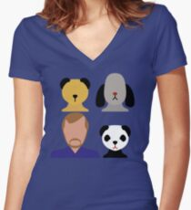 The Sooty Show Women's Fitted V-Neck T-Shirt