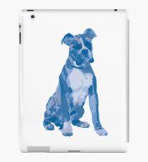 Unique Boxer Dog Pop Art Design - Shades of Blue iPad Case/Skin