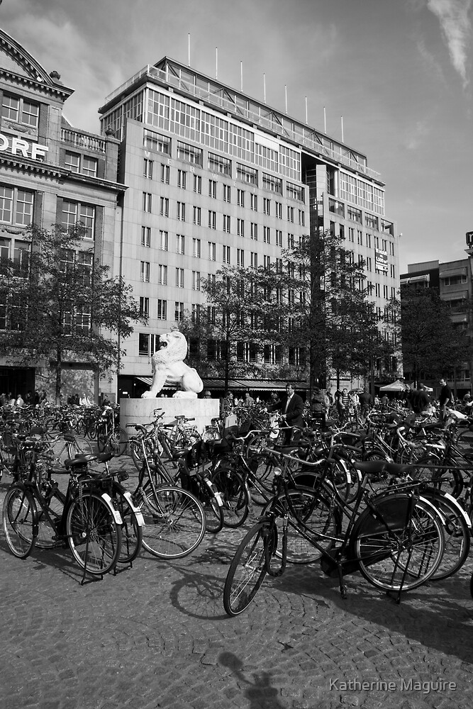Square of bikes by Katherine Maguire