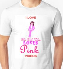 I Love The Girl Who LOVES Pink 2 T-Shirt