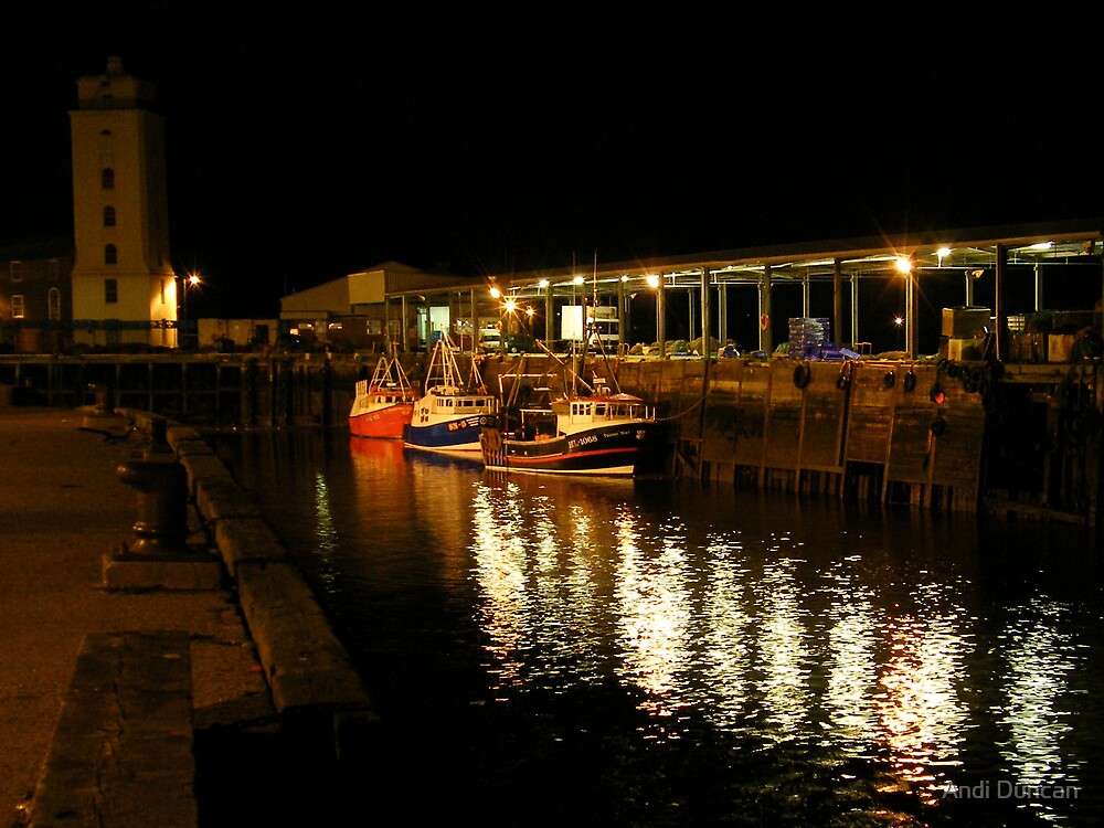 The Fish Quay at Night by Andi Duncan