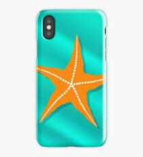 Plenty of Cushion Starfish on a  Ocean Floor. Caribbean Starfish on Azure  Background iPhone Case/Skin
