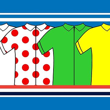 Tour de France Jerseys by CycloBuzz