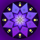 Mandala : Starry skies by danita clark