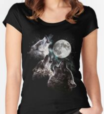 3 phases of the moon Women's Fitted Scoop T-Shirt