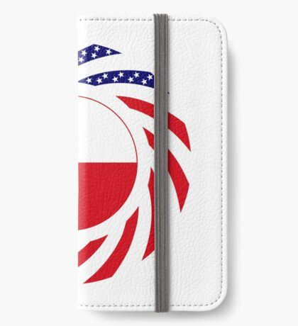 Polish American Multinational Patriot Flag Series iPhone Wallet