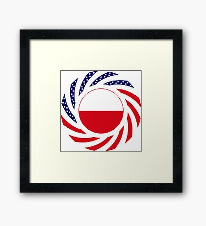 Polish American Multinational Patriot Flag Series Framed Print