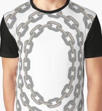 Set of Oval Chain Frames Isolated on White Background Graphic T-Shirt