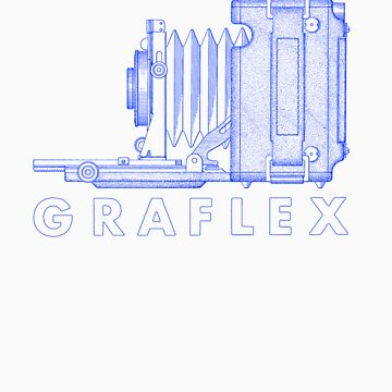 Vintage Photography - Graflex (Version 2) - Blue von brainsontoast