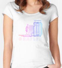 Vintage Photography - Graflex (Version 2) - Multi-Colour Women's Fitted Scoop T-Shirt