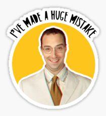 I've made a huge mistake - Buster Sticker