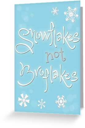 Feminist christmas card snowflakes not broflakes greeting cards feminist christmas card snowflakes not broflakes by thenopebook m4hsunfo