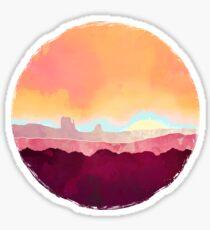Scarlet Desert Sticker