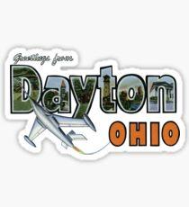 Greetings from Dayton, Ohio Sticker