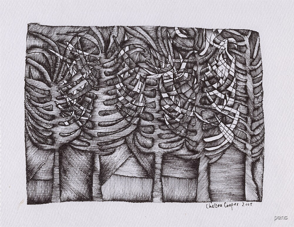 Plants by pens