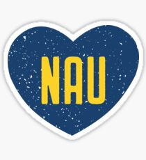 Northern Arizona University Heart Sticker