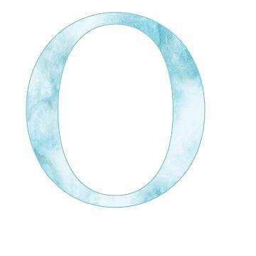 omicron de mármol azul de mollysilverberg