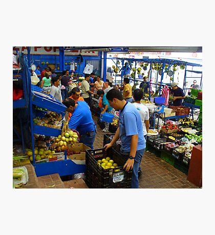 Cartago Fruit & Vegetable Market Photographic Print