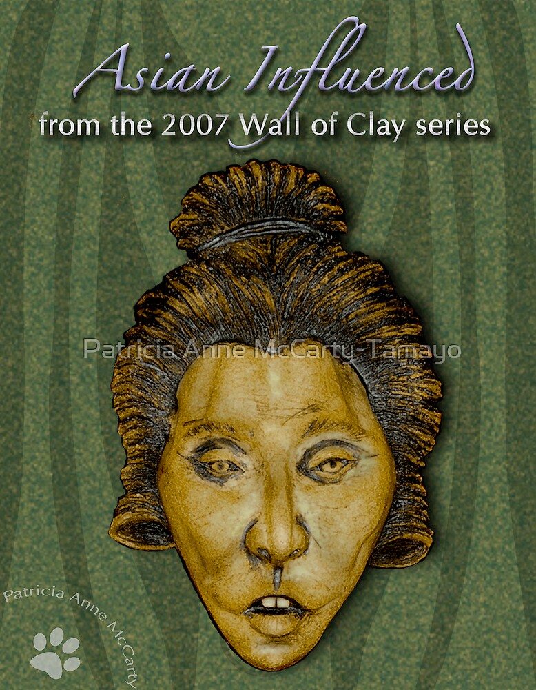 """WALL of CLAY: """"Asian Influenced"""" by Patricia Anne McCarty-Tamayo"""