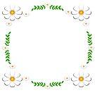White flowers in a frame by ikshvaku