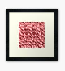 Hand Knit Red Framed Print