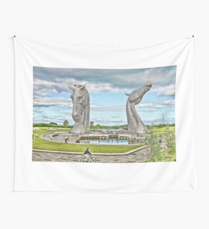 the Kelpies , Helix Park, Grangemouth Wall Tapestry