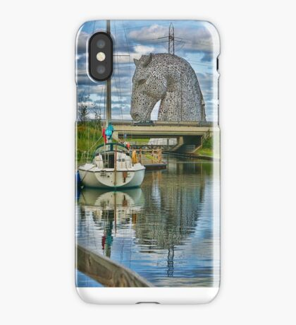 the Kelpies , Helix Park, Grangemouth , Scotland iPhone Case