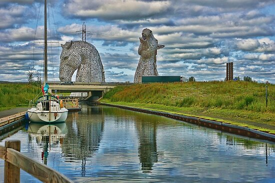 the Kelpies , Helix Park, Grangemouth , Scotland by David Rankin