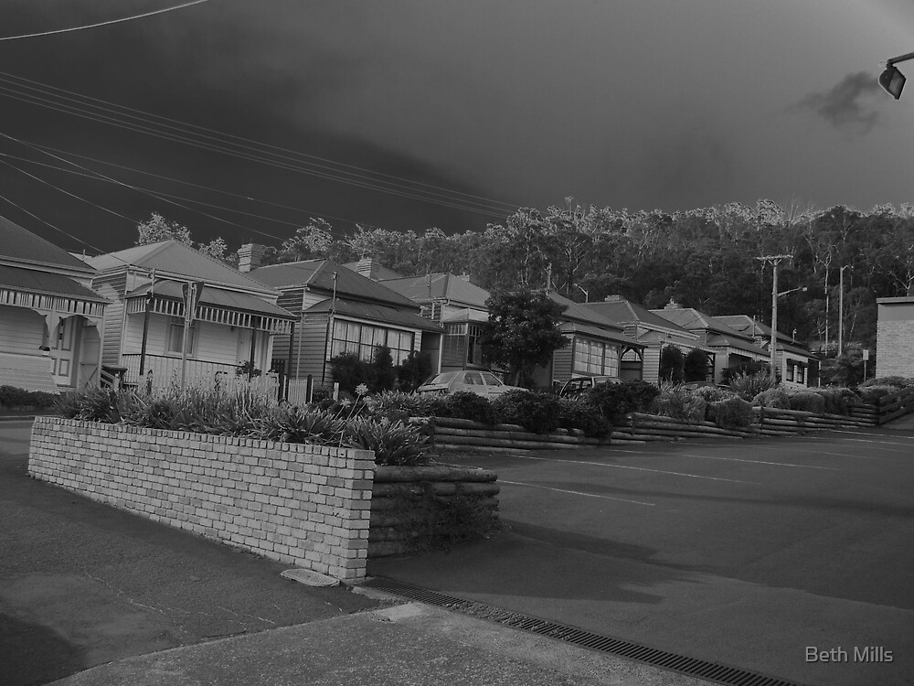 Part of an old street in Hobart by Beth Mills