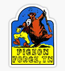 Pigeon Forge Tennessee Vintage Style Great Smoky Mountains Smokies Sticker