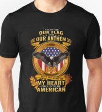 Camiseta ajustada Yo defiendo la bandera American Patriot
