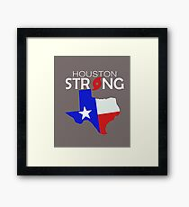Love our friends US Houston strong regroup, rebuild, rise up t shirt Framed Print