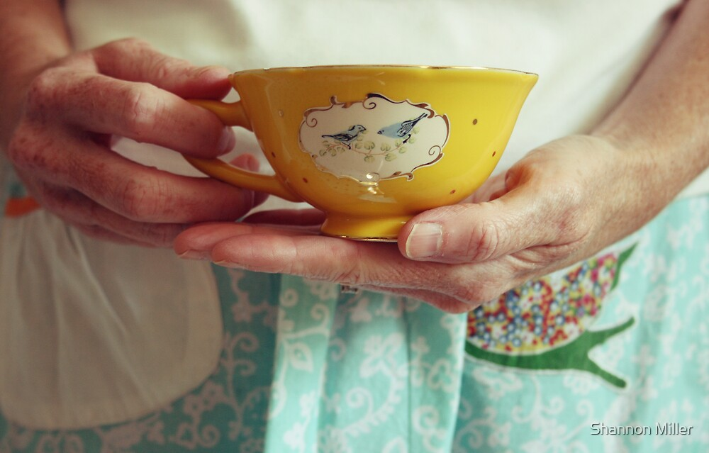 birds.hands.and a teacup. by Shannon Miller