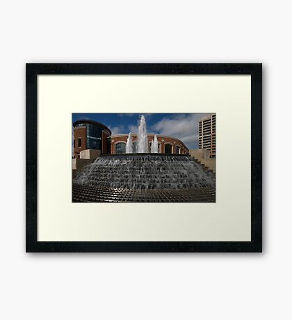 Rose Theatre Fountain Framed Print