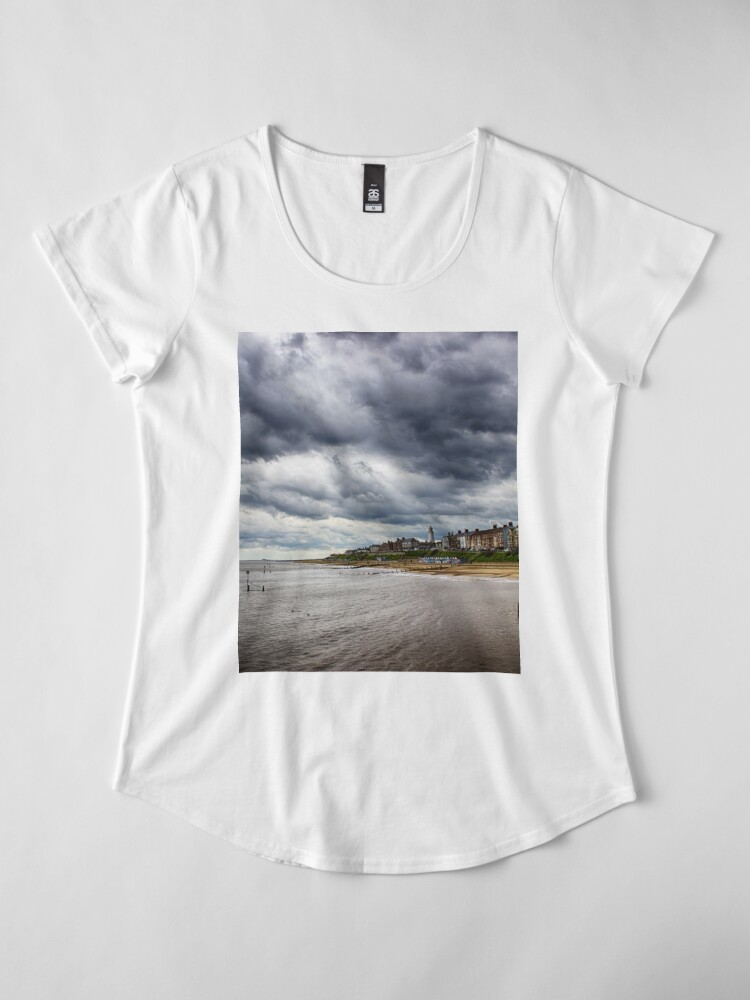 Alternate view of Stormy Seaside Women's Premium T-Shirt