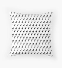 Black and white scandinavian deers Throw Pillow