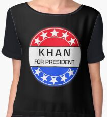 KHAN FOR PRESIDENT Women's Chiffon Top