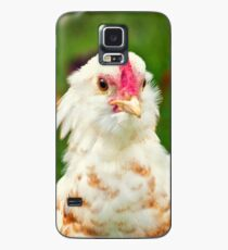 White Barbu d'Uccle bantam chicken Case/Skin for Samsung Galaxy