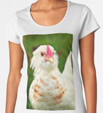 White Barbu d'Uccle bantam chicken Women's Premium T-Shirt