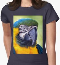 Macaw Parrot Women's Fitted T-Shirt