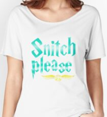 Snitch Please Women's Relaxed Fit T-Shirt