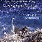 Snowflakes Drifting down haiku, snowy church steeple by PoemsProseArt