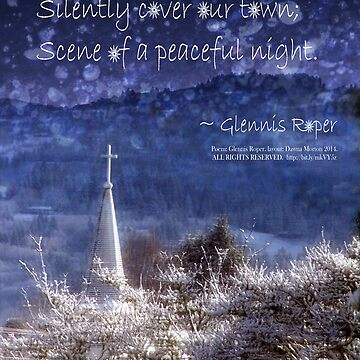 Snowflakes Drifting down haiku, snowy church steeple by PoemsProseArt
