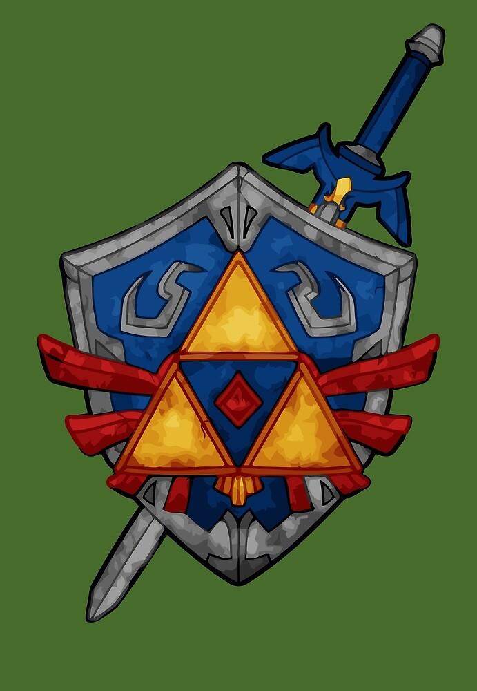 Triforce Shield by chaumasaur