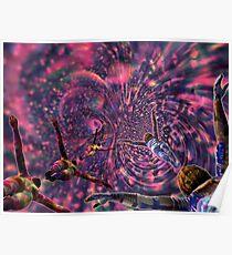 Hidden Plums Vortex - 3D art Poster