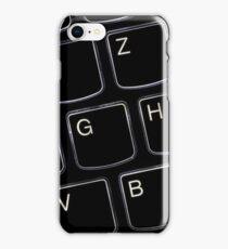Beleuchtete Notebook Tastatur Makro Konzept iPhone Case/Skin